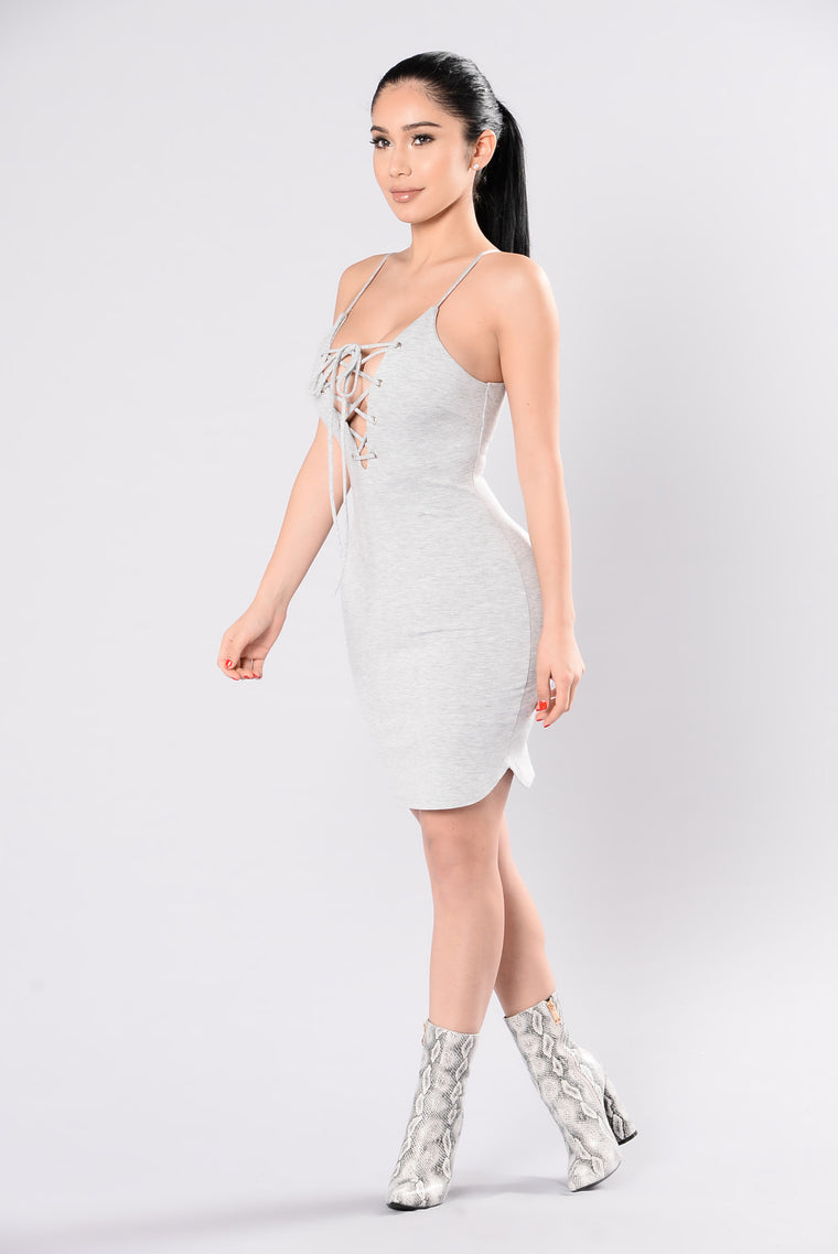 Do You Think About Me Dress - Heather Grey
