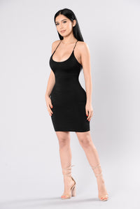 Got You Covered Dress - Black