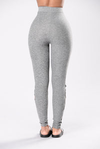 Down In Flames Leggings - Grey