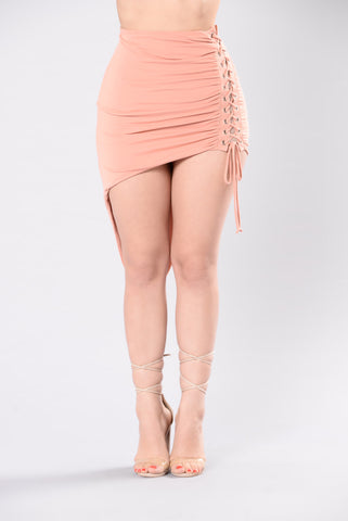 Let's Do This Skirt - Peach