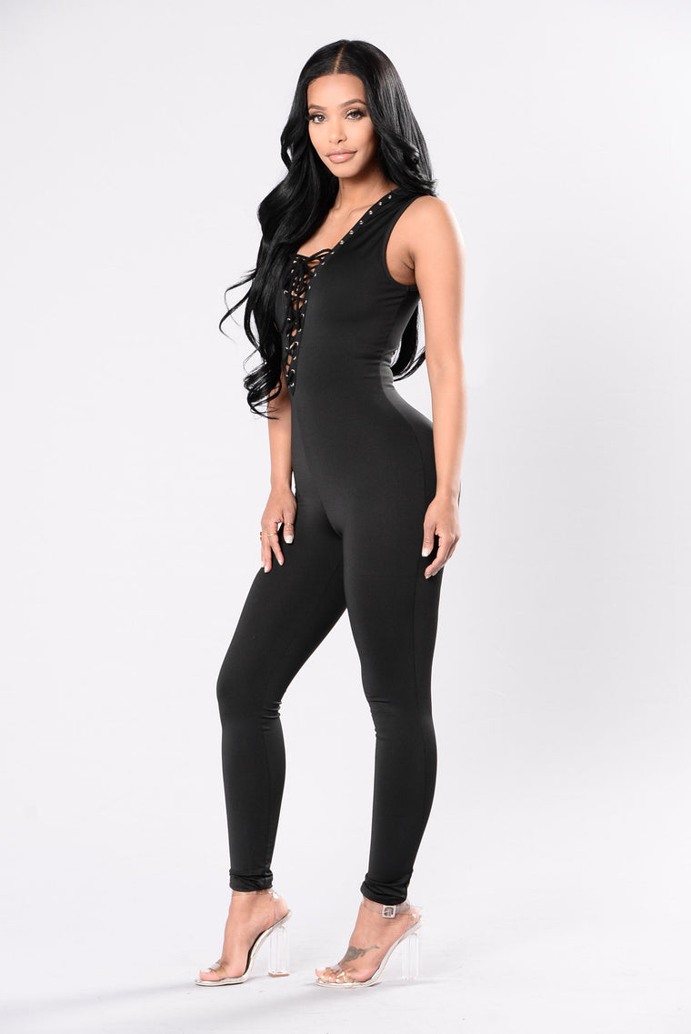Sweet Like Candy Jumpsuit - Black
