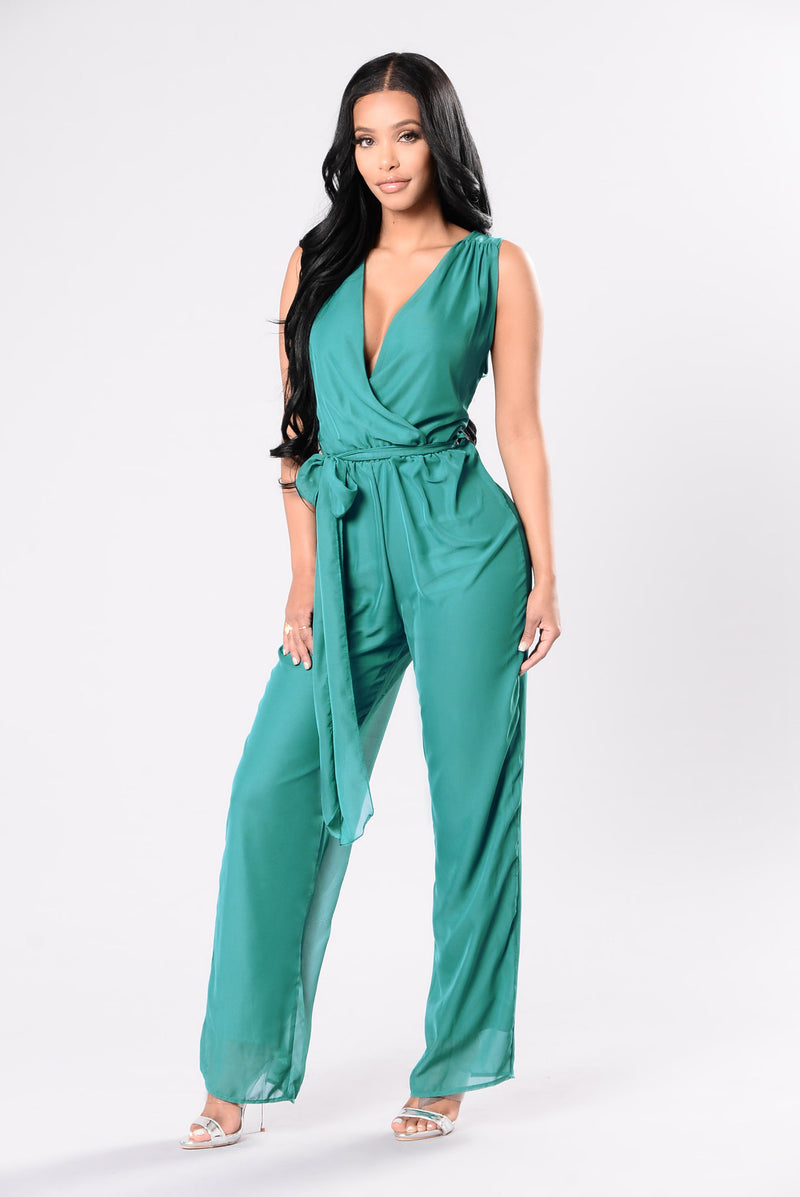 Kiss Me Like This Jumpsuit - Teal