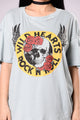 Wild Hearts Tee - Dusty Blue