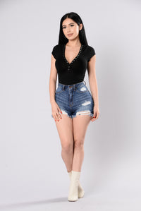 Snap Shot Bodysuit - Black