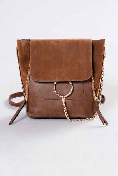 Big City Girl Backpack - Brown