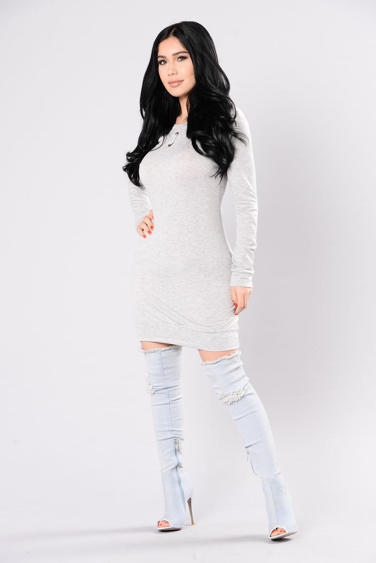 Stylish Ways Tunic - Grey