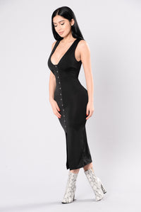 Center Piece Dress - Black