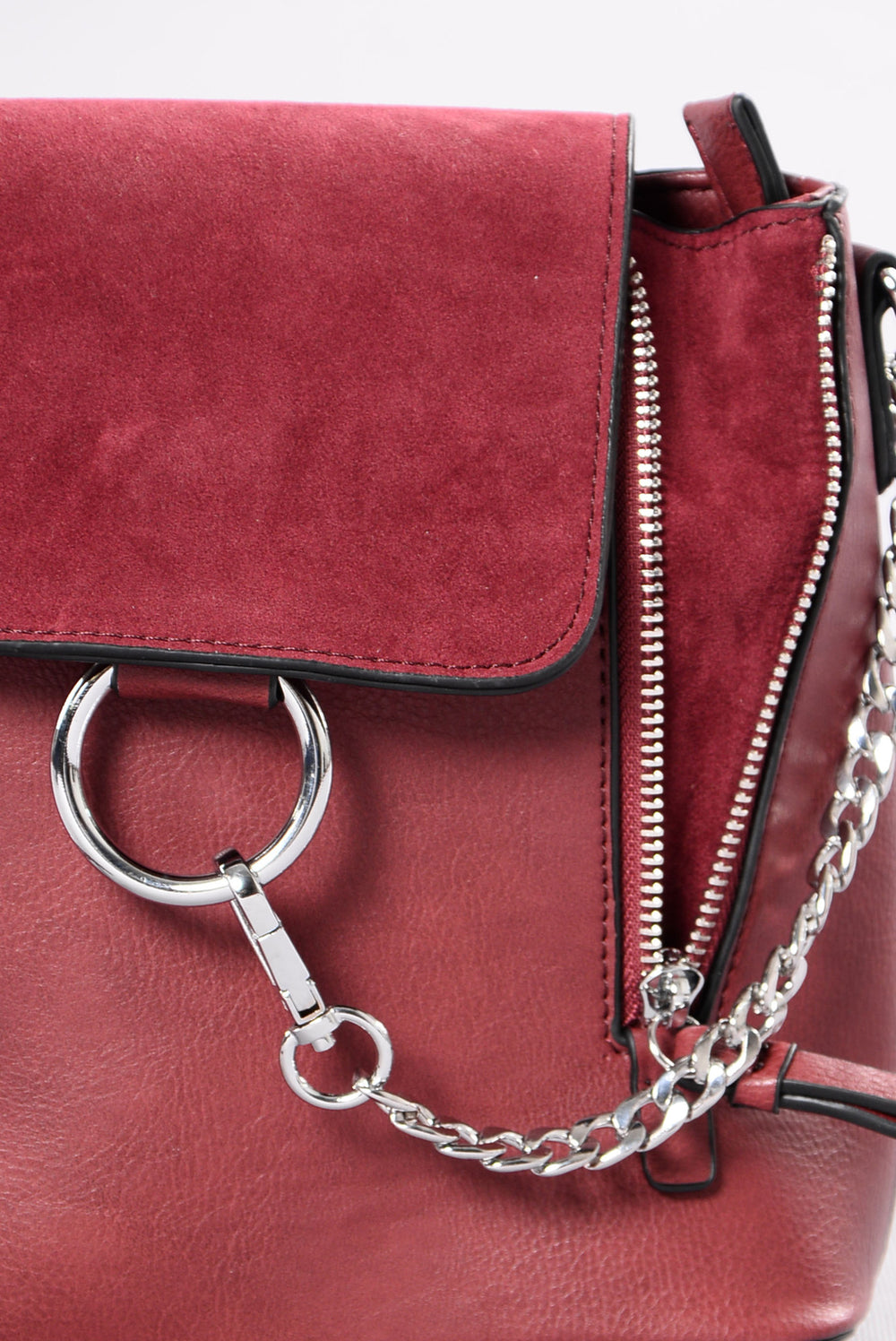 City Girl Backpack - Burgundy