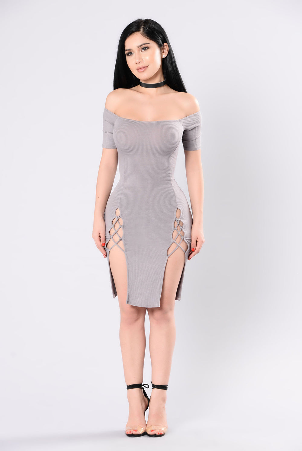 hot date dress taupe