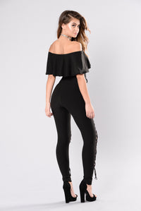 Who's Gonna Love You Jumpsuit - Black