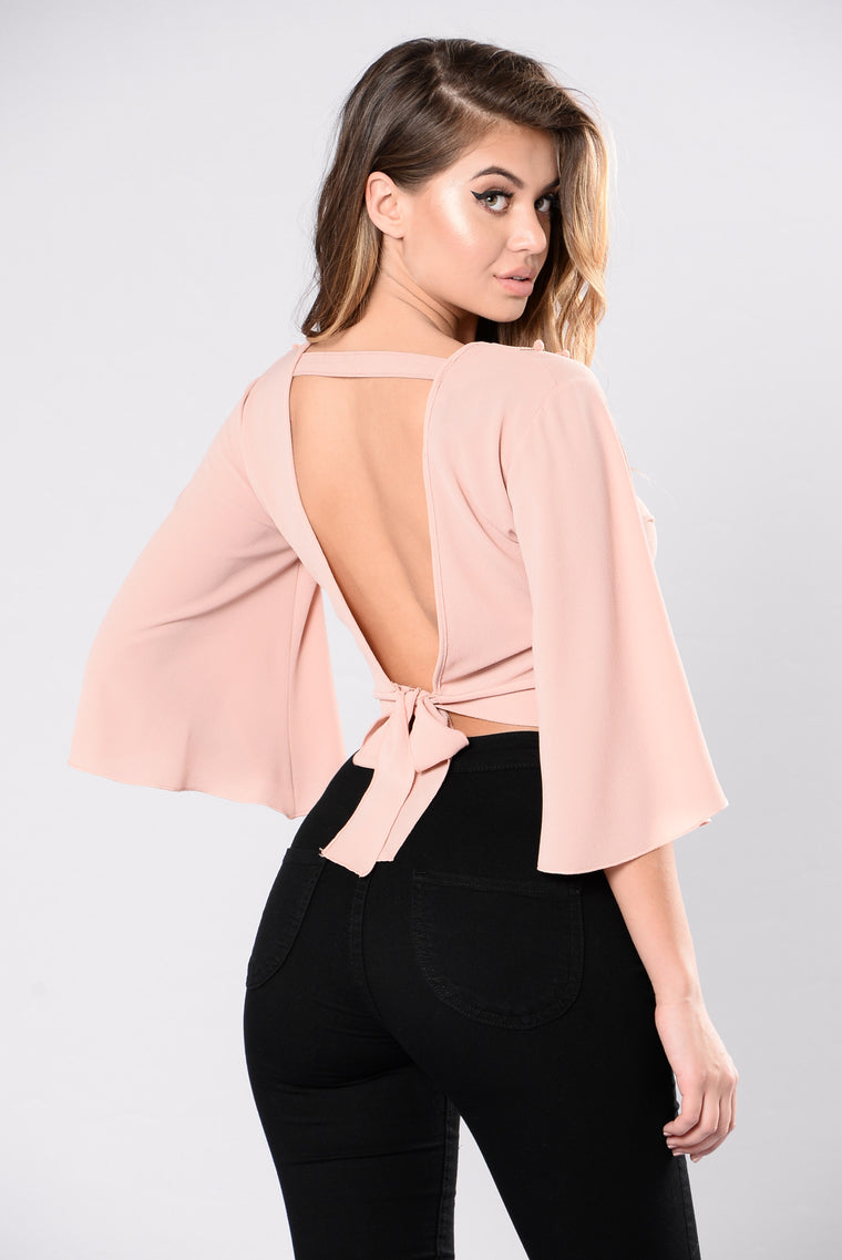 Wasted Love Top - Dusty Blush