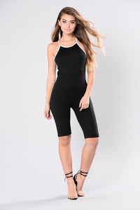Stopping Traffic Jumpsuit - Black