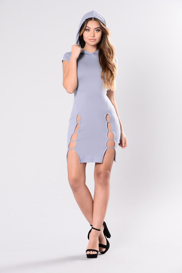 Make You Stare Dress - Light Blue