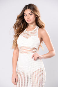 About To Shut It Down Dress - White