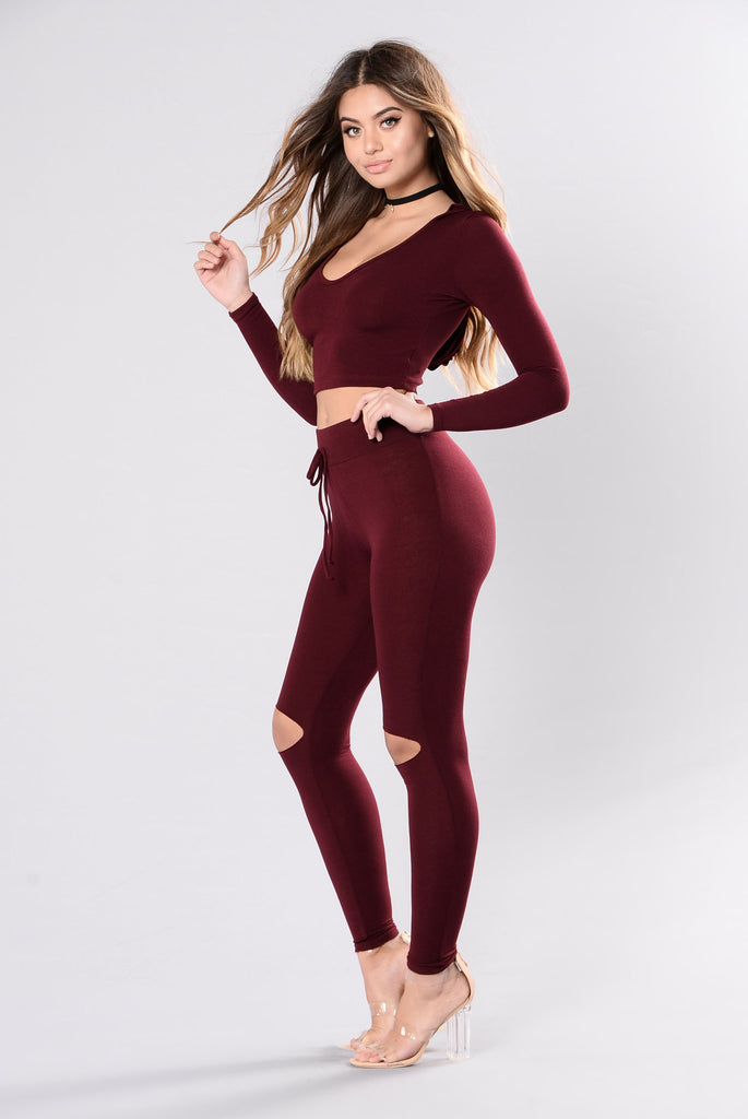 International Lover Legging - Burgundy