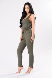 In The Name Of Lust Jumpsuit - Olive