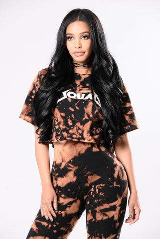 Squad Up Top - Black/Rust