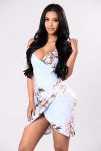 Flower Babe Dress - Blue