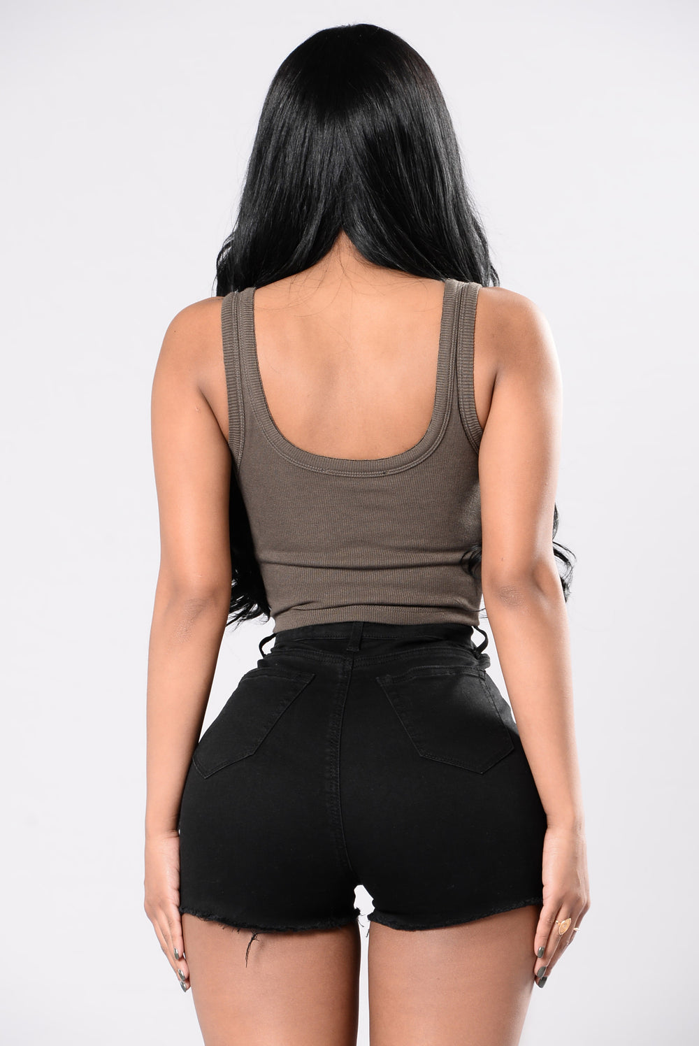 Wifey Crop Top - Olive
