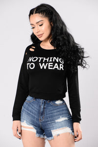 Nothing To Wear Tee - Black