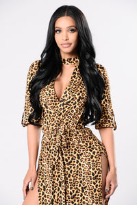 Cat Call Dress - Leopard
