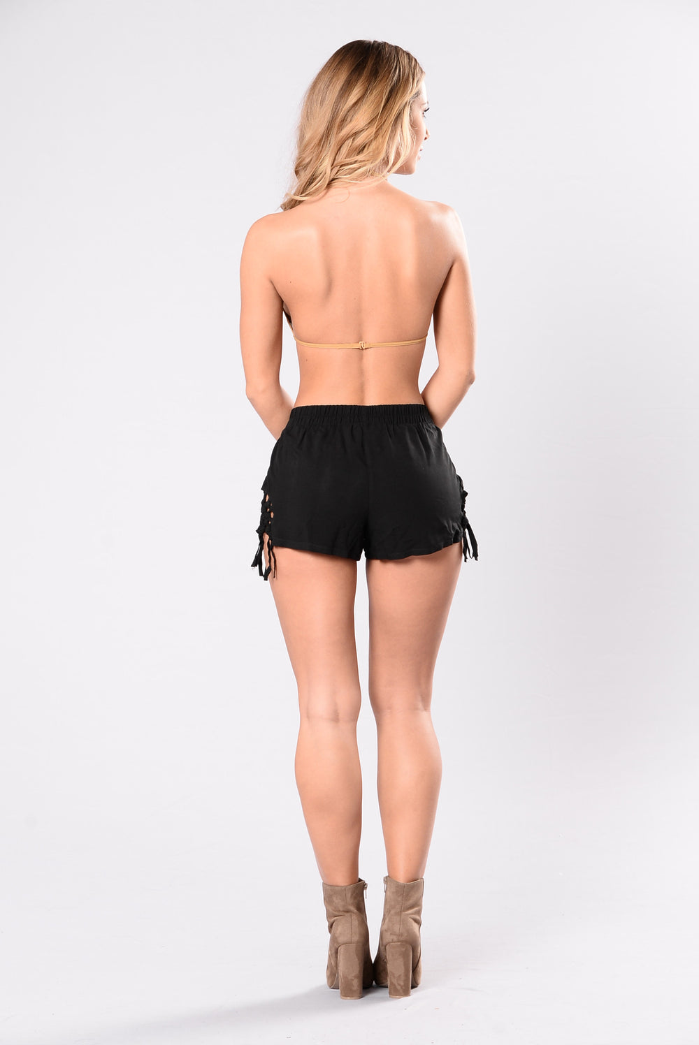 Just A Little Side Shorts - Black