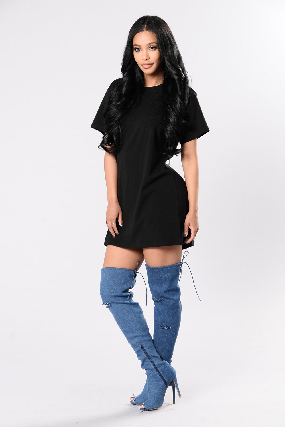 Looking Back Tunic - Black