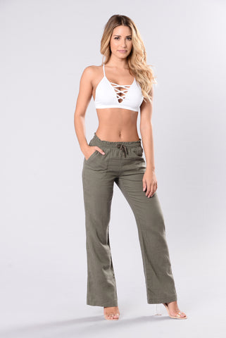 Movin And Groovin Pants - Olive