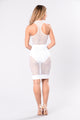 Send You Into Overdrive Skirt - White