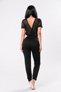 Time And Place Jumpsuit - Black