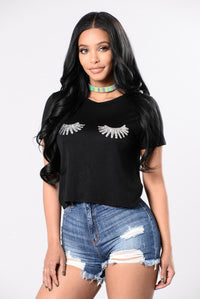 Angel Baby Tee - Black