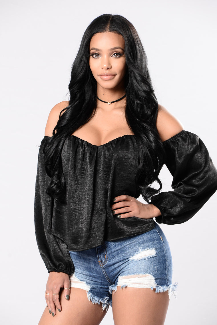 Sheen Queen Top - Black
