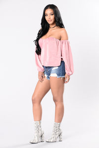 Sheen Queen Top - Mauve