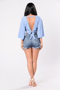 Wasted Love Top - Denim