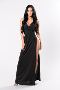 Angelina Dress - Black Angle 1