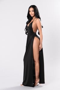 Angelina Dress - Black Angle 4