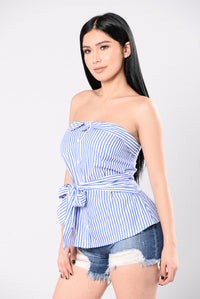 Pinup Doll Top - Royal Blue