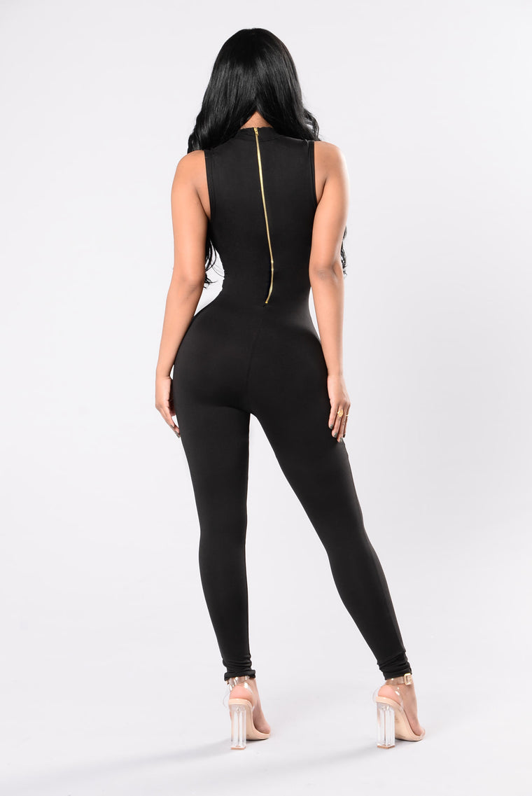 Foxy Lady Jumpsuit - Black