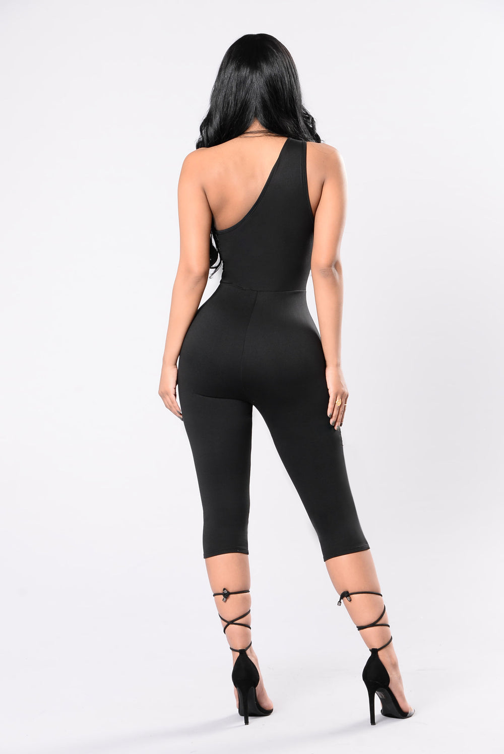 Thrill Of The Night Jumpsuit - Black