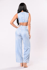 Hairspray And Denim Jumpsuit - Denim