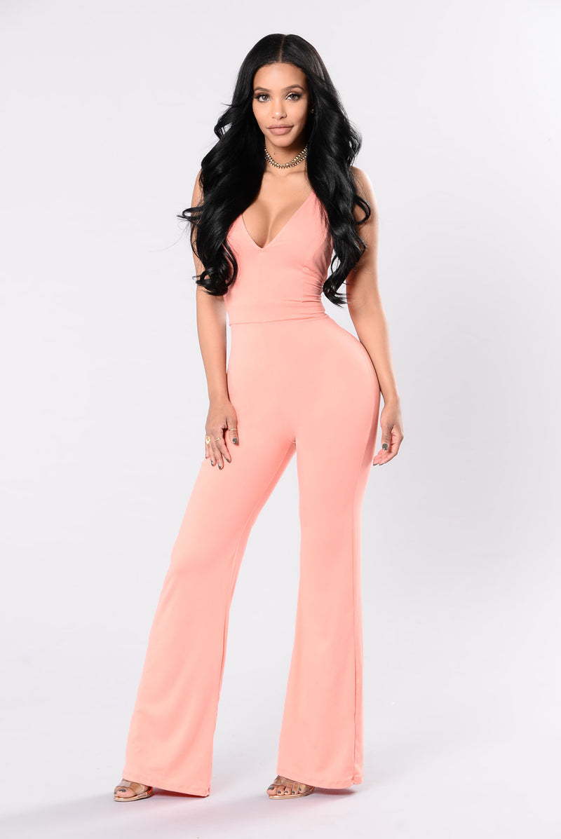 Action Packed Jumpsuit - Dust Orange
