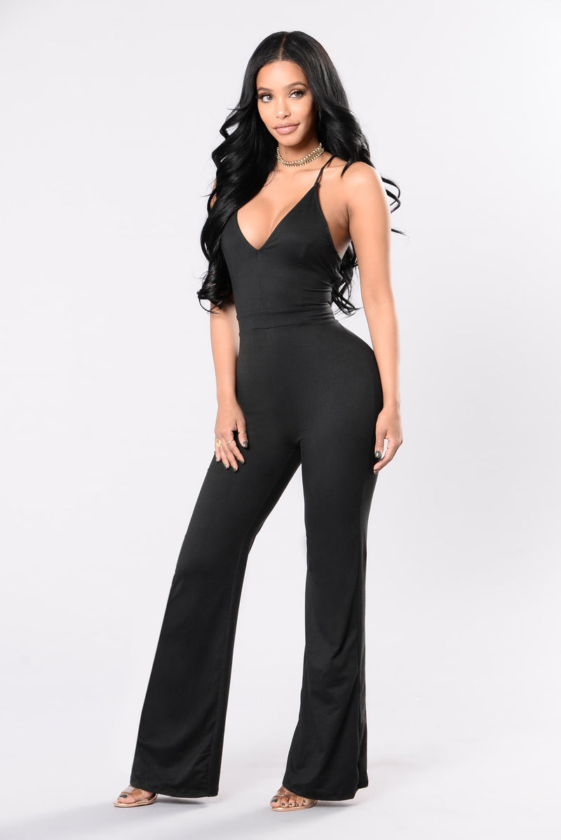 Action Packed Jumpsuit - Black
