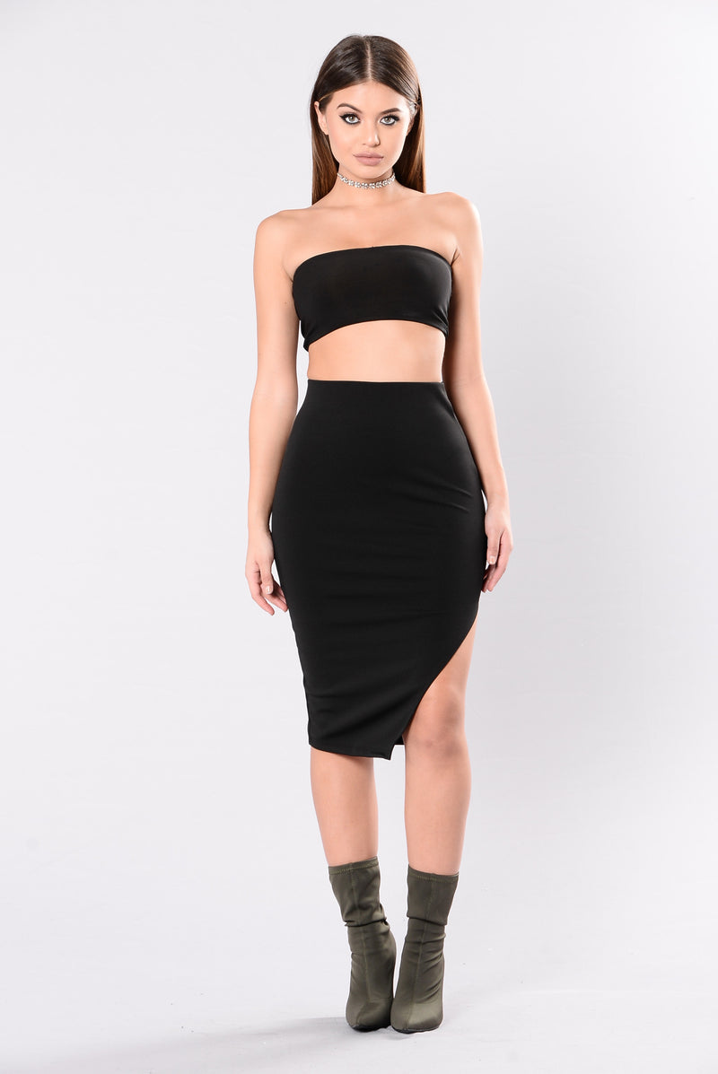 It Is What It Is Skirt - Black