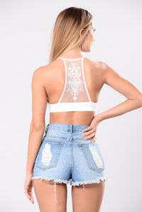 Tattooed On To My Heart Bralette - White