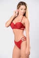 Might Hurt Yourself Swimsuit - Burgundy