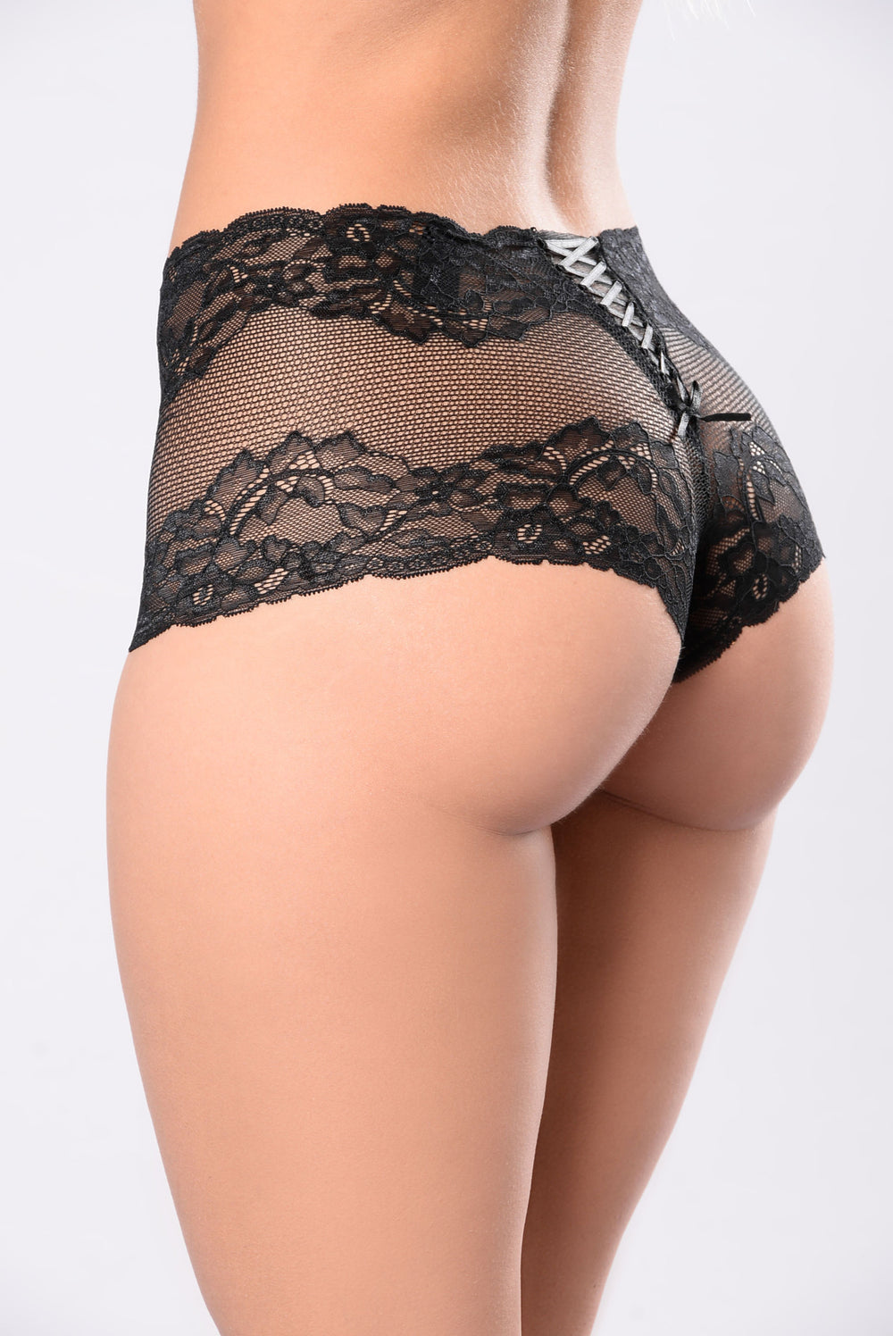 """Oh Boy"" Lace Boyshort - Black"