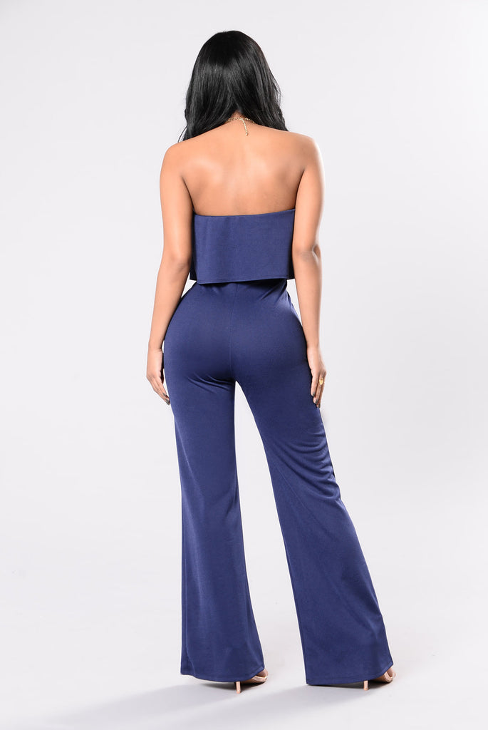 Match Maker Jumpsuit - Navy