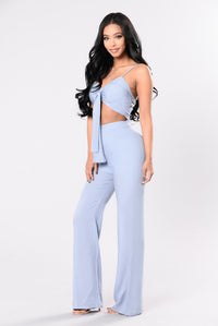 Too Fly Jumpsuit - Dusty Blue
