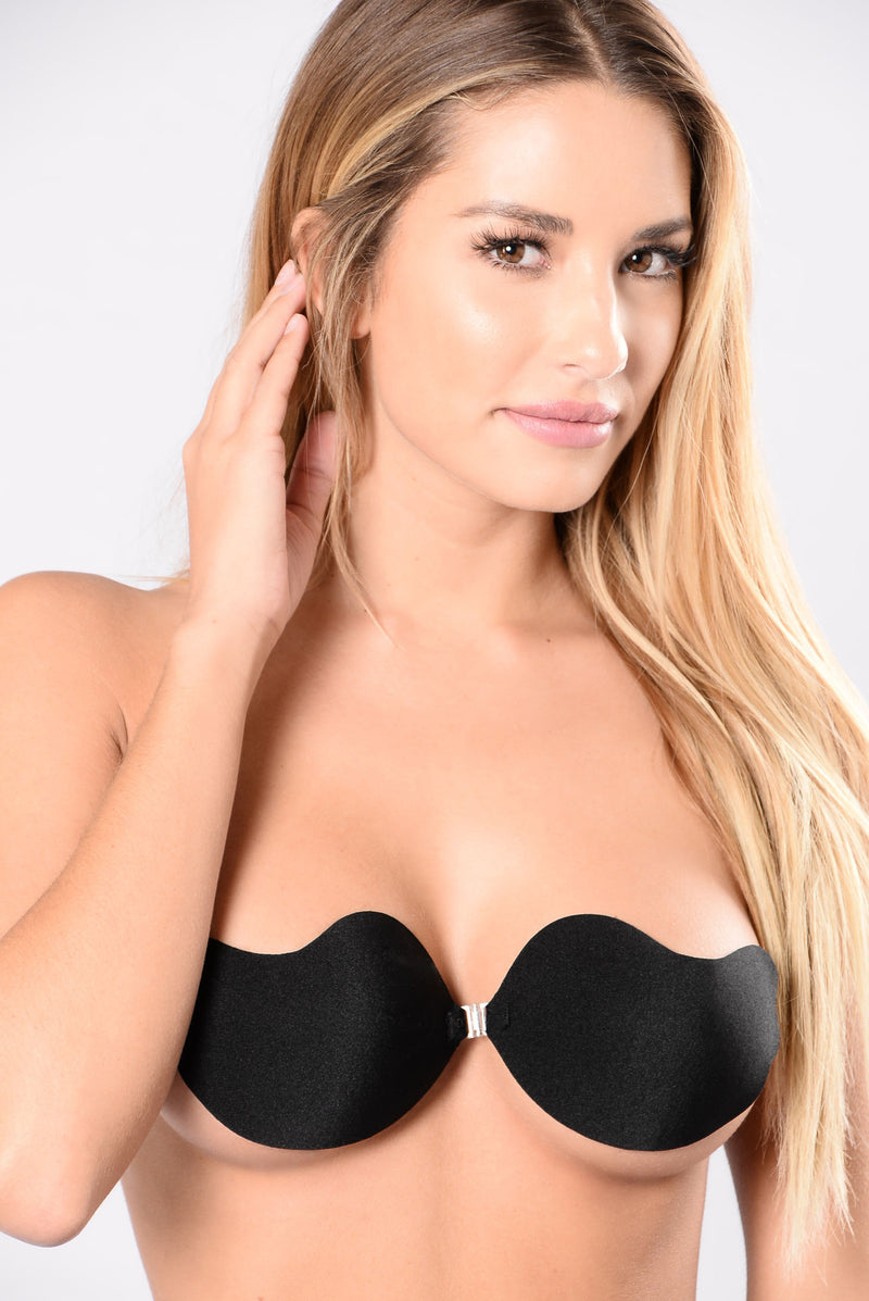 Hooked On You Invisible Bra - Black