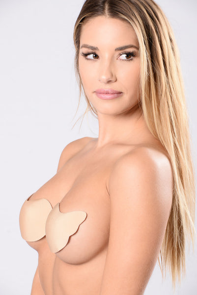 Hooked On You Invisible Bra - Nude